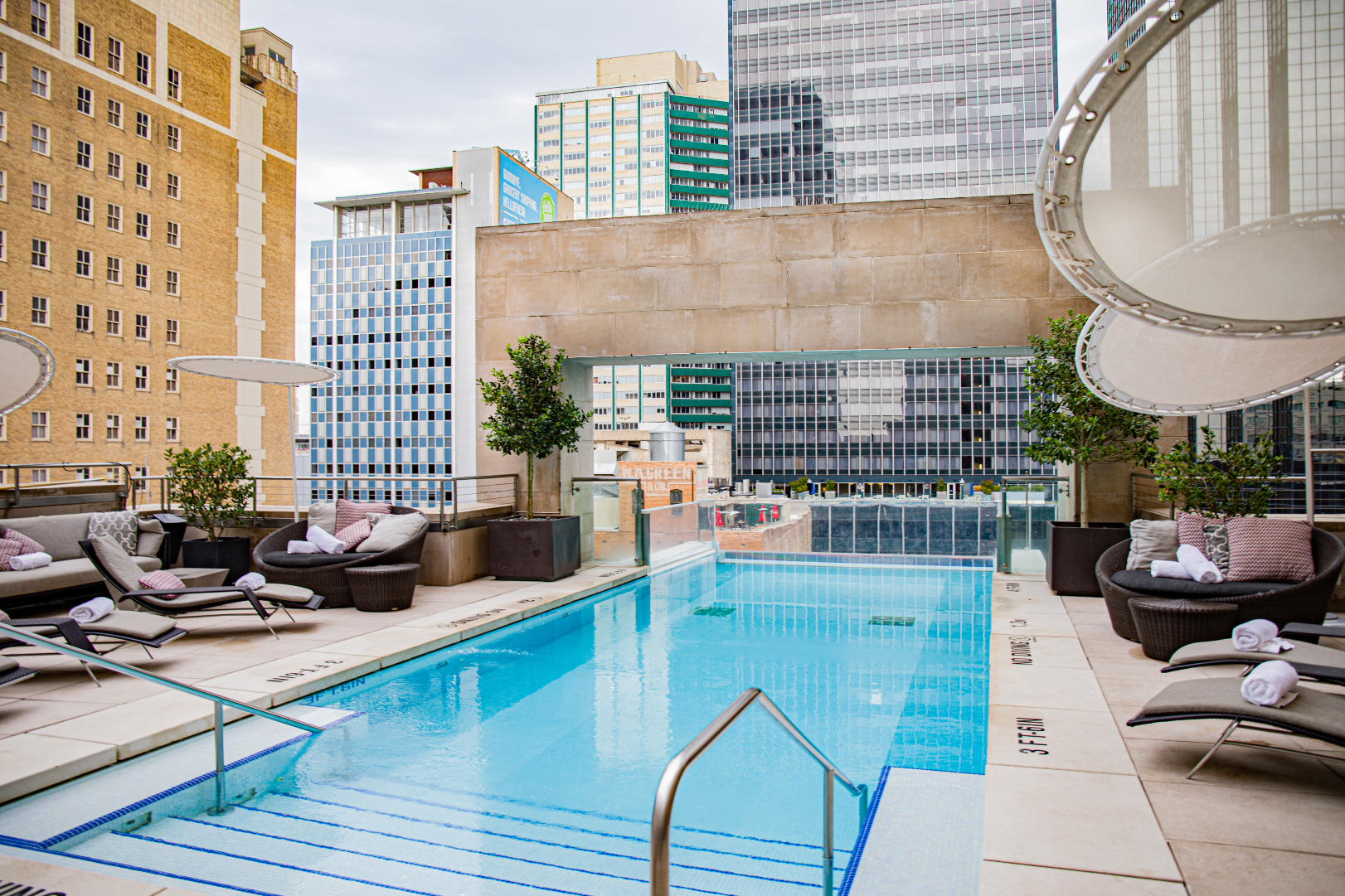 The pool at The Joule Hotel in Downtown Dallas.