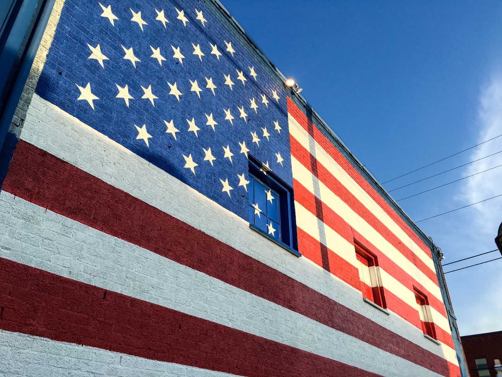 Honoring the red, white and blue.