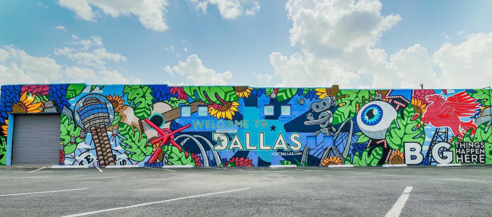 VisitDallas mural.
