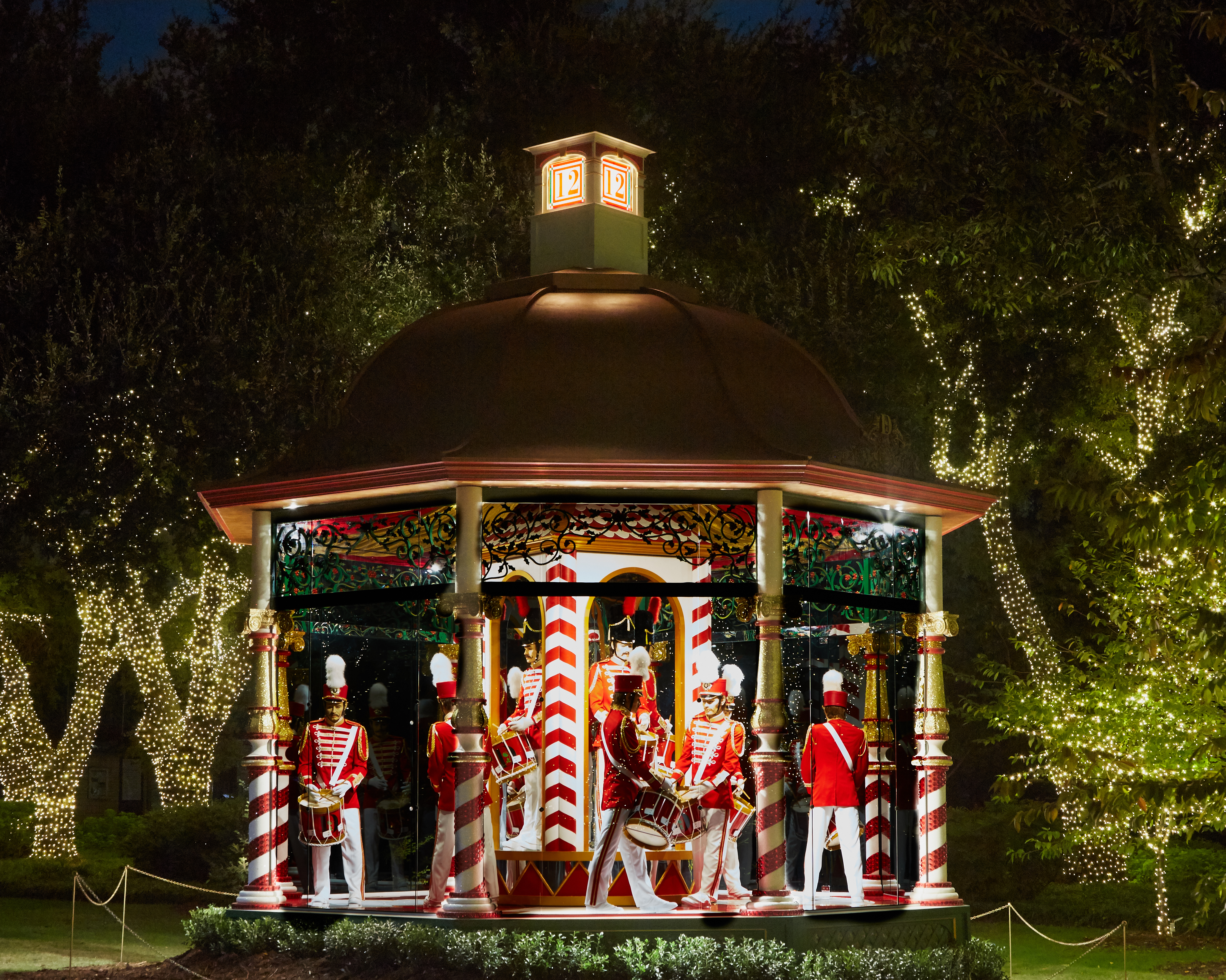Holiday gazebo at the Dallas Arboretum.