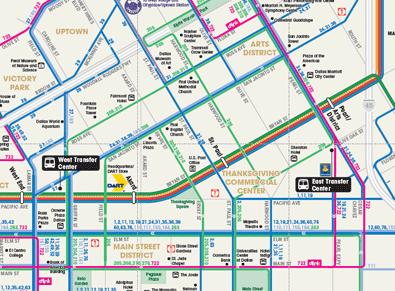 Dallas Maps Downtown Neighborhood Mass Transit Maps
