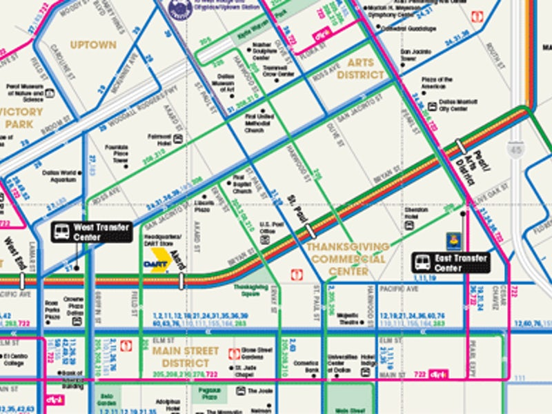Dallas Maps: Downtown, Neighborhood & M Transit Maps on