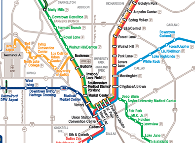 Dallas Maps Downtown Neighborhood Mass Transit Maps