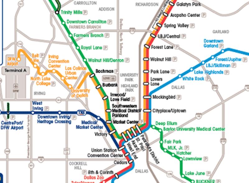 Park Cities Dallas Map.Dallas Maps Downtown Neighborhood Mass Transit Maps