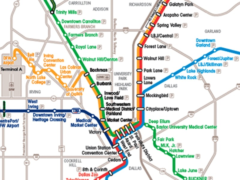 Dallas Maps: Downtown, Neighborhood & Mass Transit Maps