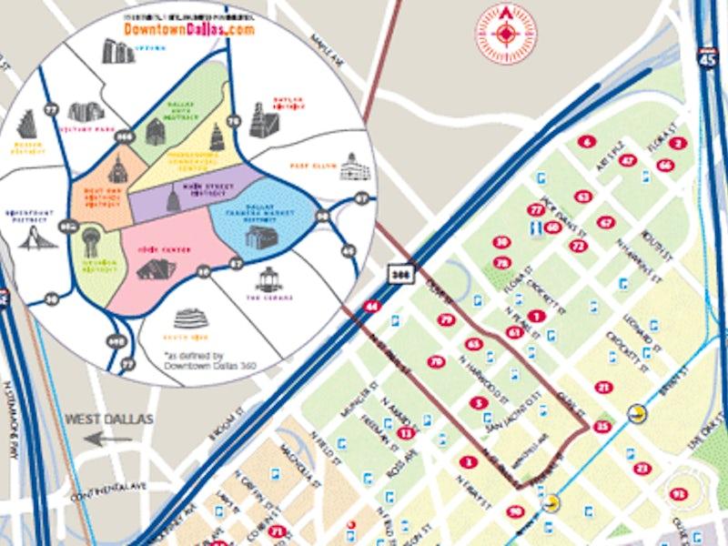 Dallas Maps: Downtown, Neighborhood & M Transit Maps on