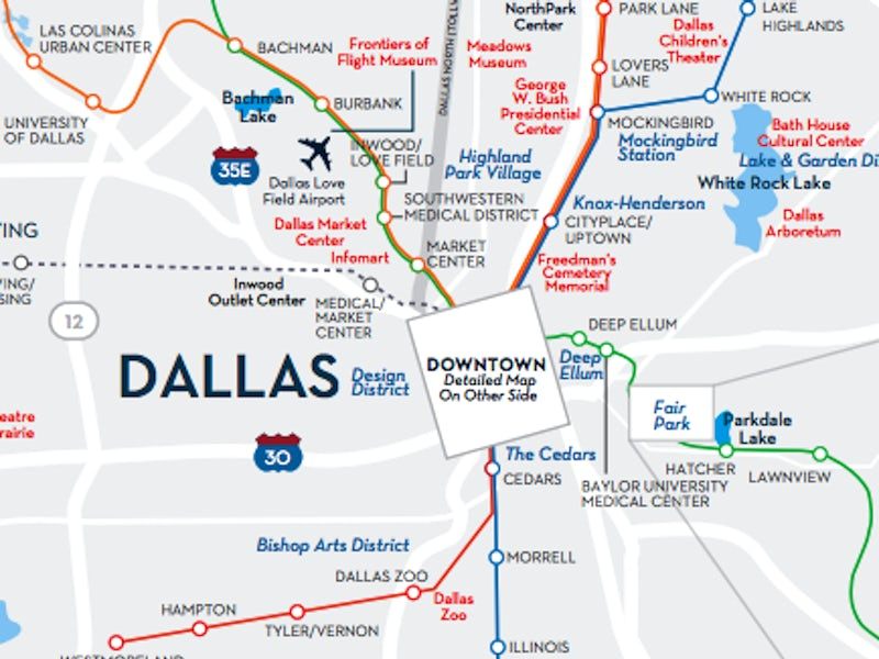 Greater Dallas Area Map