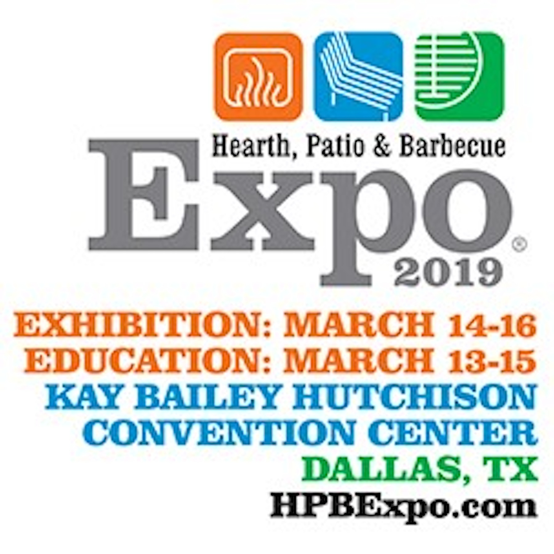 Hearth, Patio & Barbecue Expo 2019 Logo