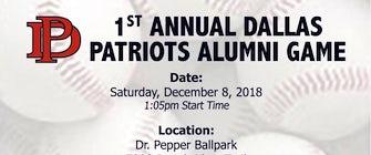 1st Annual Dallas Patriots Alumni Game benefitting Youth Athletes Foundation