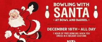 Bowl with Santa at Bowl & Barrel