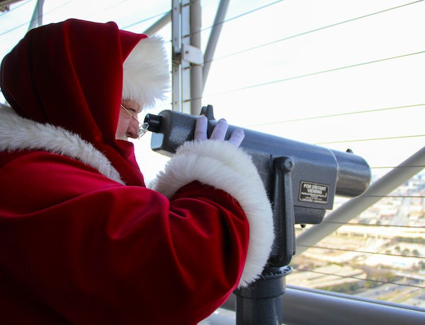 Santa Claus on the GeO-Deck