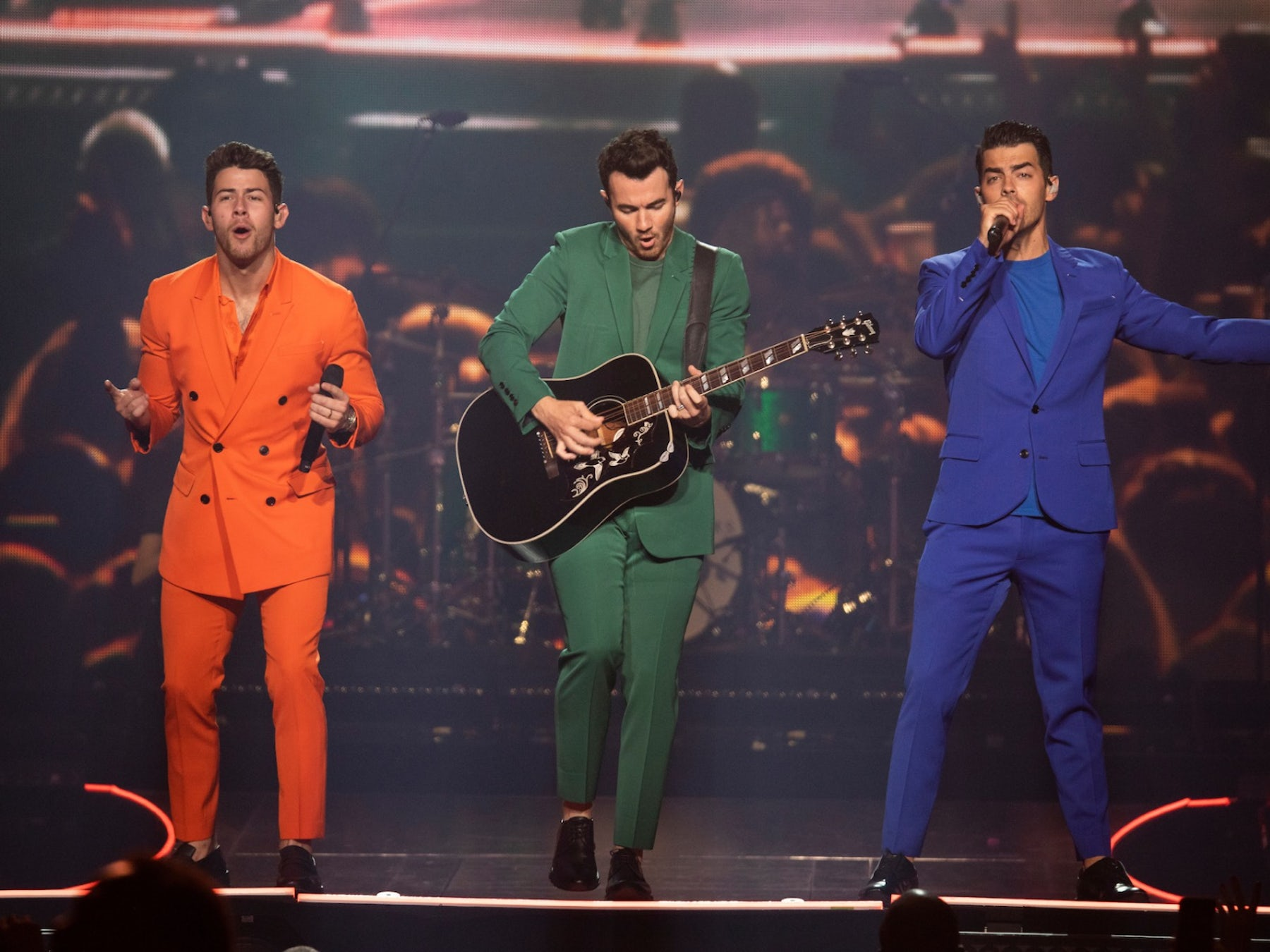 The Jonas Brothers & Kelsea Ballerini In Concert At Dos Equis Pavilion