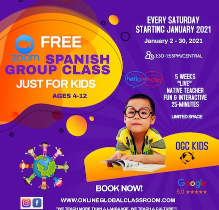 Free Spanish Group Class for Kids