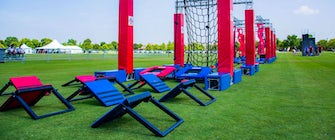 Ninja Nation's Obstacle Course from America Ninja Warrior at TopGolf Allen