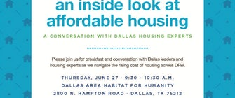 An Inside Look at Affordable Housing: Conversation with DFW Housing Experts Panel Breakfast