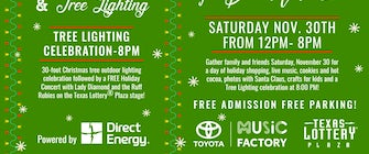 RING IN THE HOLIDAY SEASON WITH TREE LIGHTING CELEBRATION AND SHOP SMALL BUSINESS SATURDAY AT TOYOTA MUSIC FACTORY