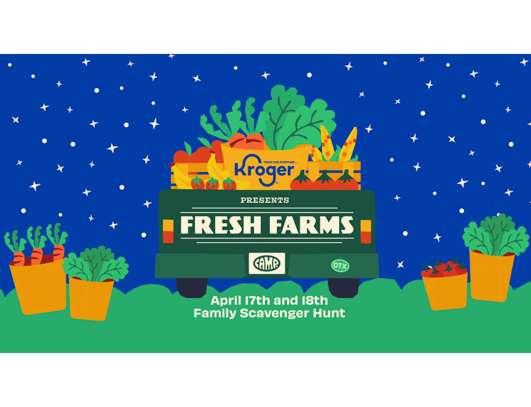 Kroger and Family Experience Company, CAMP, Team Up to Host Fresh Farms Educational Experience