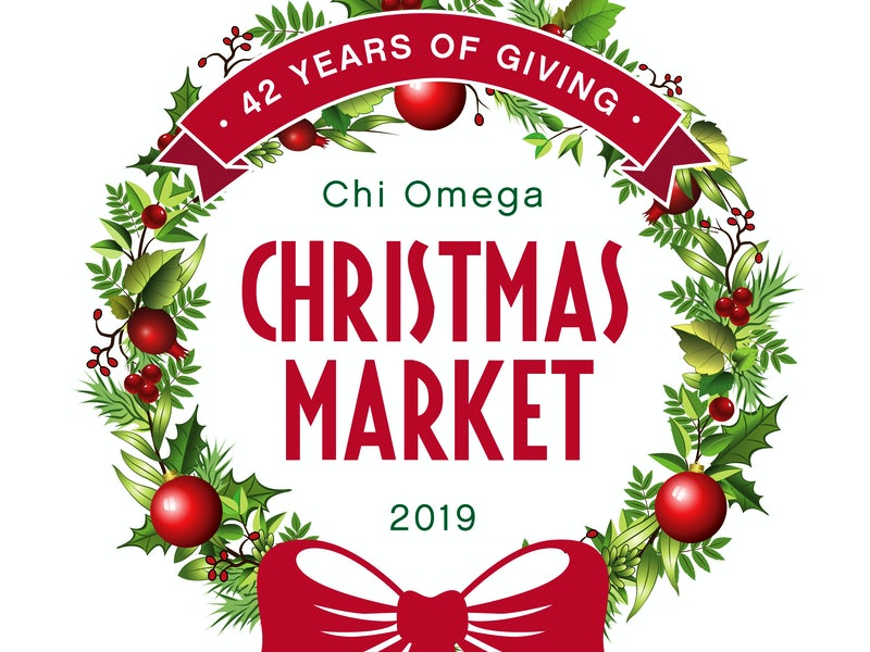 Christmas Graphics 2019.Chi Omega Christmas Market 2019 Nov 20 2019 6 00 Pm 10