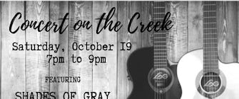 Concert on the Creek featuring SHADES OF GRAY