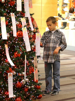 Salvation Army Angel Tree at Galleria Dallas