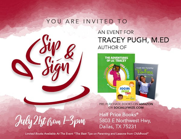 Sip and Sign with Tracey Pugh