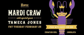 The Rustic's Annual Mardi Craw Party