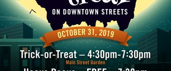 Trick-or-Treat on Downtown Street