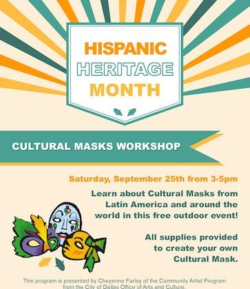 Hispanic Heritage: Cultural Masks Workshop