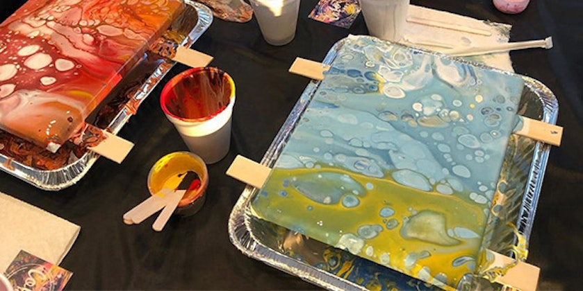 Acrylic Pouring – Flip Cup with ColorHype at Reunion Tower