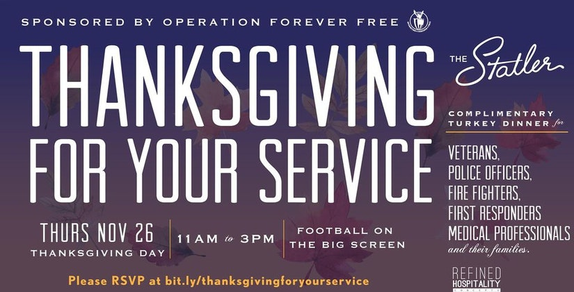 Thanksgiving for your service