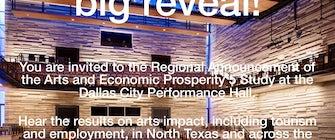 Regional Announcement of Arts and Economic Prosperity 5 Study