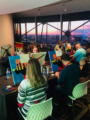Painting With a View at Reunion Tower